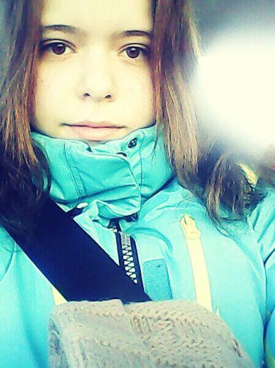 в машине:)