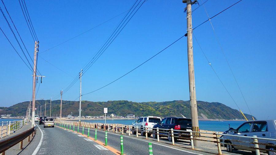 Traffic on coastal road