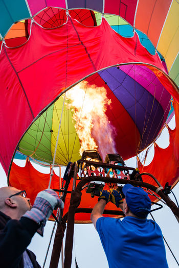 Day Enjoyment Fun Hot Air Balloons Hudson Valley Hot-Air Balloon Festival Leisure Activity Low Angle View Red