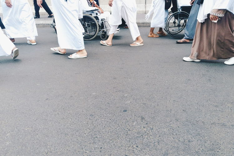 pilgrims Pilgrim Mecca Saudi Arabia Hajj Umrah Religion Pilgrimage Islam People person Streetphotography Streetphoto City Road Human Leg Men Street Asphalt Human Foot Mosque EyeEmNewHere