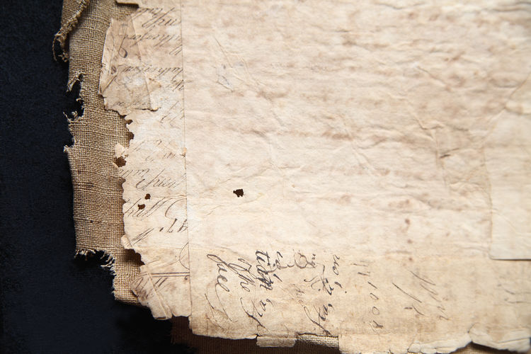 High Angle View Of Old Papers