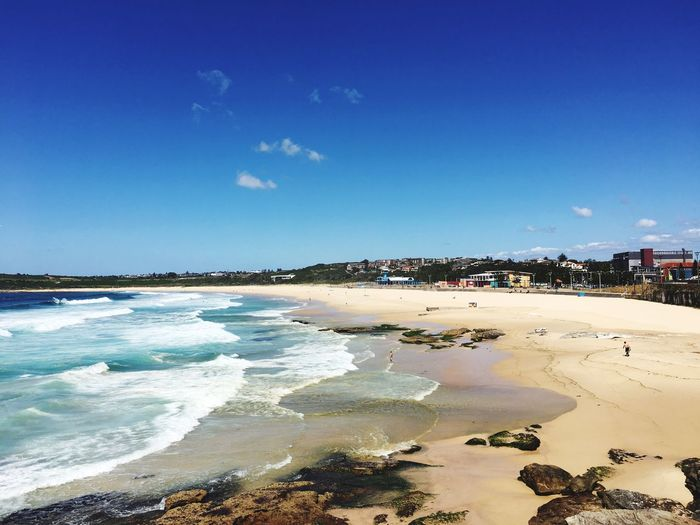 Huge waves too at Maroubra Beach 🌊 Sea Beach Water Blue Sky Nature Sand Beauty In Nature Shore Sunlight Scenics Outdoors Day No People Tranquility Wave Maroubra Maroubra Beach Sydney Australia Waves, Ocean, Nature Waves Waves Crashing Tourism
