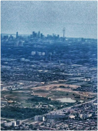 Hot hazy afternoon arrival in Toronto. Enjoying The Colours Enjoying The Light The View From My Window Flying 2015 07 29
