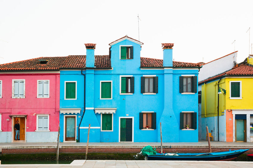 Burano, Italy Burano, Venice Travel Venice Italy Venice, Italy Architecture Building Building Exterior Built Structure Burano Island Multi Colored Residential District Town Travel Destinations Turquoise Colored