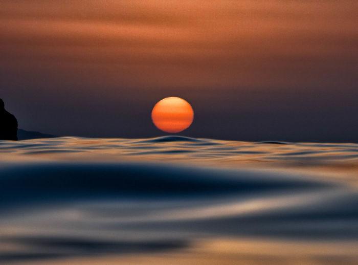 Wave touching