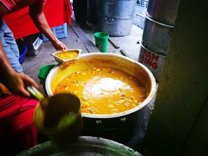 Human Hand Preparation  Holding Indoors  Indian Dalca Kari