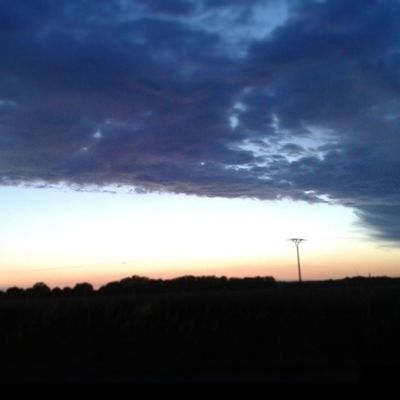 Gestern Sonnenuntergang Schön Blau Gelb Orange