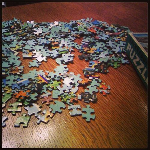 Challenge accepted! Saturday Shabbat Puzzle500 Playtime meandbro home :-)