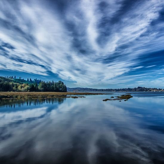 Reflection Water Cloud - Sky Beauty In Nature Scenics Outdoors Sky Tranquil Scene Northbend Canonphotography Outdoor Photography Oregon Coast DSLR Photography Oregon Jewell Photography Coos Bay Nature Landscape Beauty In Nature Reflection Dramatic Sky