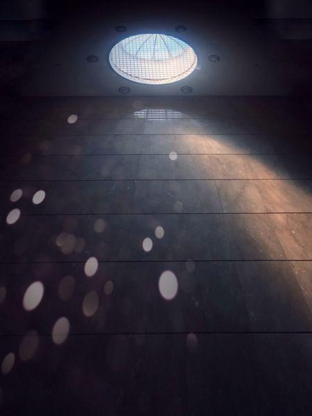 Illuminated Night No People Indoors  Circle Geometric Shape EyeEmNewHere Lighting Equipment Ceiling Glowing Flooring Pattern Sphere Architecture Light Tile Low Angle View Light - Natural Phenomenon Reflection Shape Nightlife