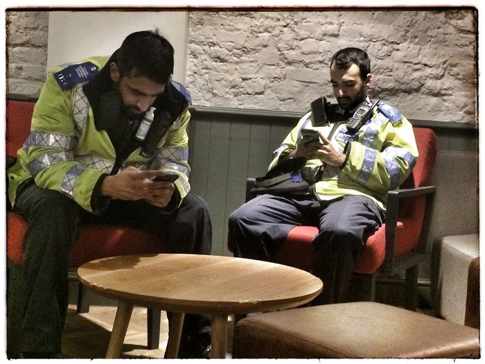 Policemen On Duty Does This Make You Feel Safe? High Security Fiddling While Rome Burns Living Under Terror London
