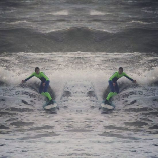 My Son Lifes A Beach Surfer Borth, Wales my son surfing Sunday Borth Ceredigion. Wales UK. New suit new board. Angry sea perfik lol