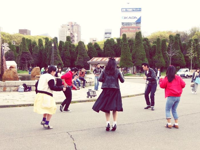 Dancer Dancing DANCE ♥ Large Group Of People Real People Adult Outdoors Women Arts Culture And Entertainment OSAKA