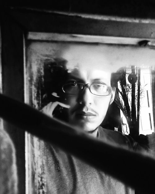 One Person Eyeglasses  Window Portrait Young Adult Blackandwhite Black And White Blanco & Negro