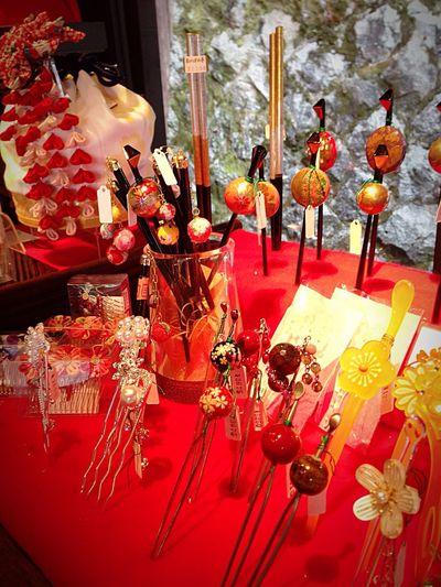 Kyoto Japan Sannei-zaka Kanzashi Hairpin Accesories Japanese Style 京都 日本 産寧坂 カンザシ