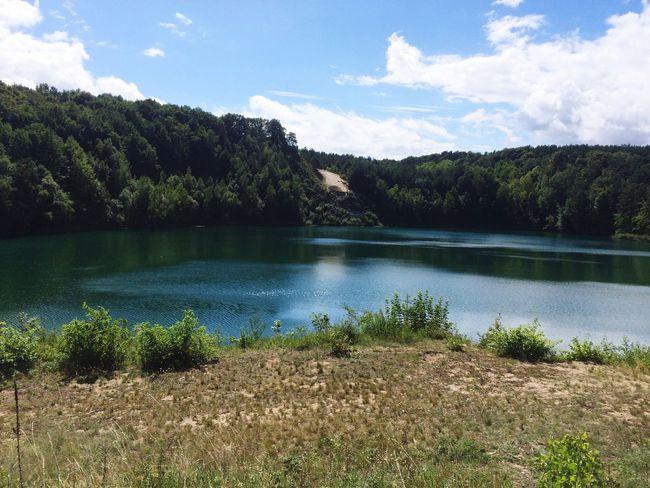 Water Sky Lake Beauty In Nature Forest Cloud - Sky Idyllic Countryside Blue Sky Blue Sea Seaside