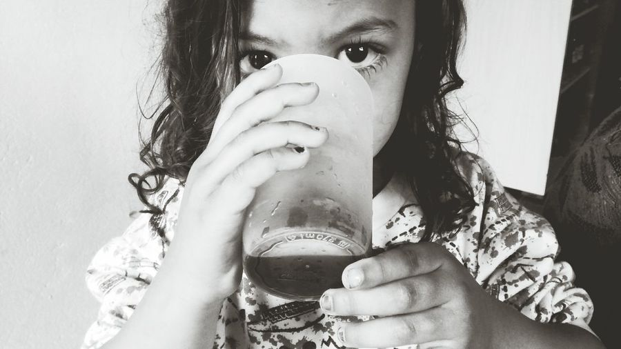 Simplicity Sad Children Sad Eyes Onlychild Young Women Portrait Drink Women Headshot Drinking Glass Human Face Drinking Looking At Camera Holding EyeEmNewHere