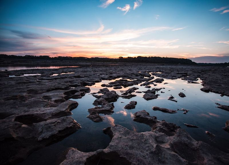 Water Sunset Tranquil Scene Scenics Rock - Object Tranquility Sky Lake Beauty In Nature Stone - Object Louisville, Kentucky Louisville Sunset_collection Sunshine Cloud - Sky Dusk Non-urban Scene Nature Reflection Travel Destinations Tourism Cloud Geology Stream