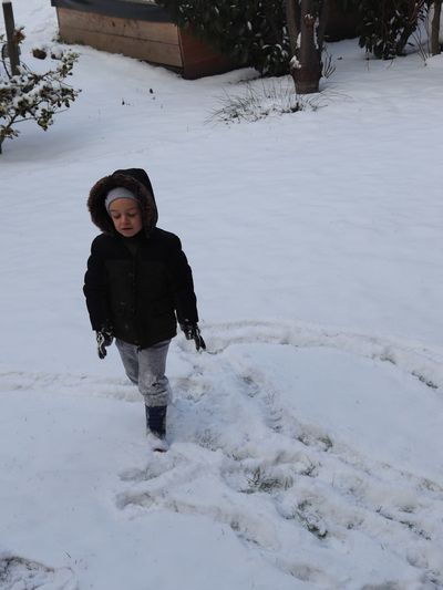 Child Childhood Winter Snow One Person Real People Cold Temperature