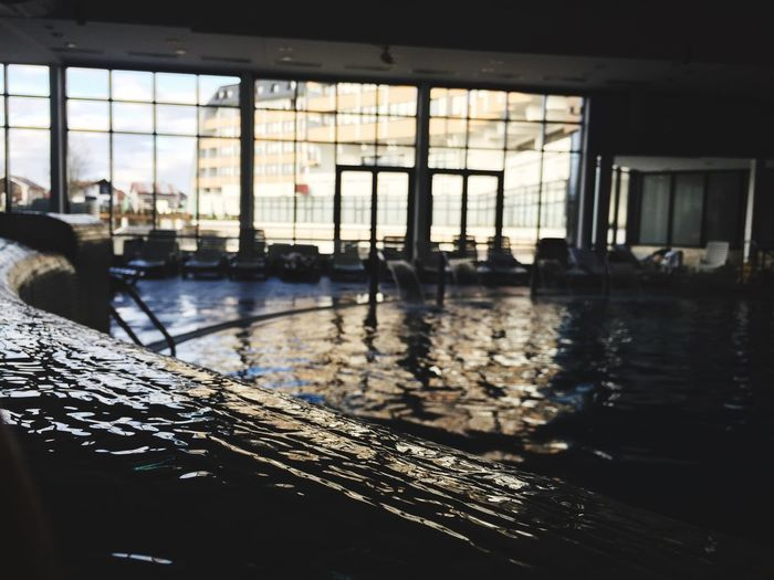 Window Water Architecture Indoors  Built Structure Day Swimming Pool Building Exterior