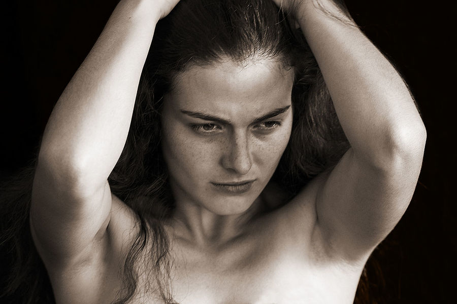 Milena, 2007 Beautiful Woman Beauty Black Background Hair Human Arm One Person Portrait Portrait Of A Woman