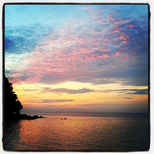 Sarawak Sunset from Talang Talang Island. Malaysia Sunset Sarawak Sunset Malaysia Sunset Hello World