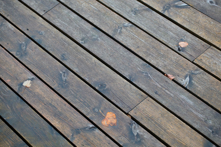 Close-up of wooden plank