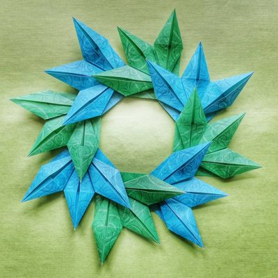 Getting Inspired Leafs Origami Papercraft Art Check This Out Design Decoration My Hobby