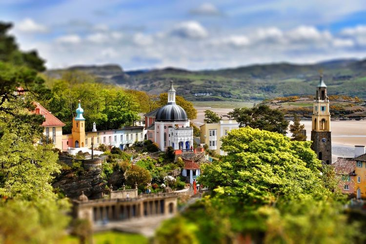 portmeirion Wales HDR Relaxing Tourism