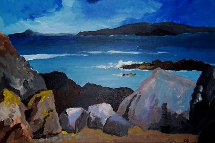 My Painting of Iona from 2003 (acrylic on canvas) Acrylic Painting Seascapes Scottish Iona My Painting