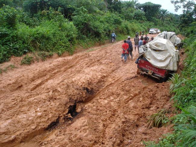 road trip Liberia 4*4 African Safari Landscape Liberia Muddy Roads Nature Off Road Driving Offroad Adventure Patroling Roadtrip Stuck In Mud West Africa