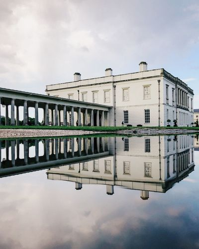 Architecture Greenwich Reflection London Building Exterior No People Day Nature Symmetry Cloud - Sky Puddle Standing Water Building Outdoors Lake City Reflecting Pool Reflection Lake