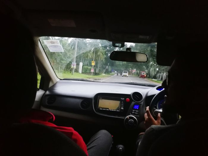 Car Car Interior Steering Wheel Car Point Of View Windshield Vehicle Mirror Dashboard Gearshift Windshield Wiper Passenger Seat Side-view Mirror