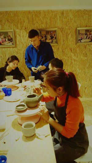 Моя вторая работа из глины-чайник ещё не законченная..... My Second Job Out Of Clay, Not Yet Finished... AyaSilver