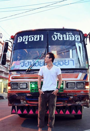Memory Of Travel 2014 Model Thailand Ayutthata in Thailand , I like the colorful bus❤️