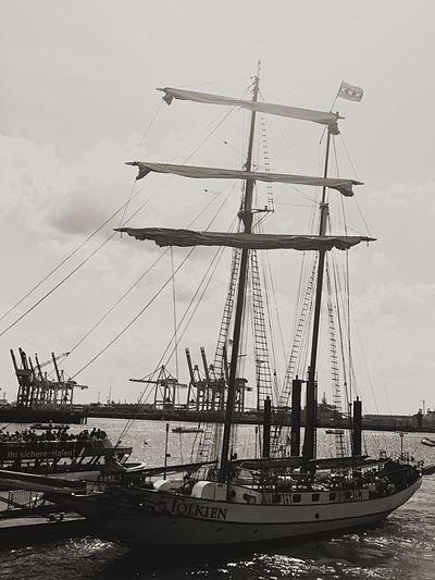 Nautical Vessel Transportation Mast Travel Tall Ship Day Mode Of Transport Moored Harbor Outdoors Sky Water Sea Sailing Ship Architecture Lake Hamburg