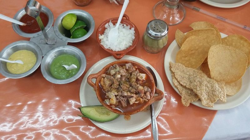 Pozole Morelence ! Food And Drink Directly Above Serving Size Lunch Temptation