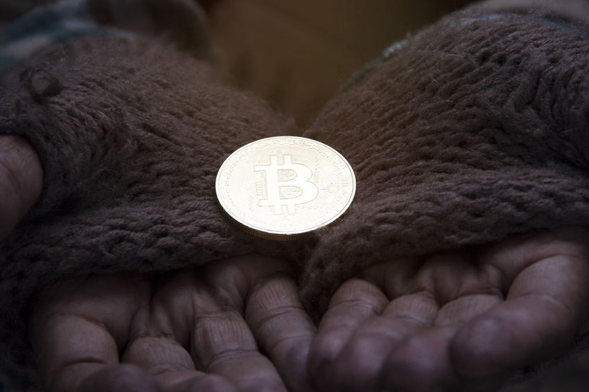 bitcoin mining concept. Business Golden Market Shopping Bank Banking Bitcoin Mining Bitcoin Wallet Close-up Coin Communication Concept Crypto Cryptocurrency Exchange Finance Holding Human Body Part Human Hand Idea Mining Money One Person People Real People