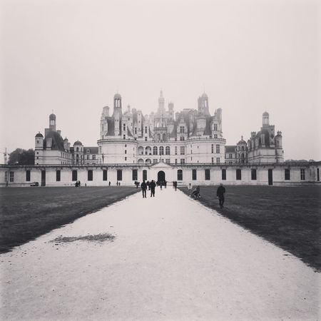 French Castel Black White Castel French Castle Built Structure Architecture Building Exterior Sky Travel Destinations Tourism Building