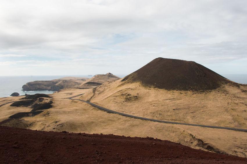 Eldfell Heimaey Iceland Vestmannaeyjar Volcano Landscape Beauty In Nature Cloud - Sky Crater Environment Helgafell Island Land Mountain Nature Rocks Scenics - Nature Sky Volcano Volcano Eruption