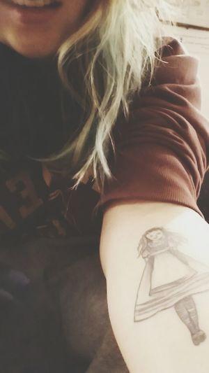 I follow the rabbit. Bewitched Aliceinwonderland Tattoo Downtherabbithole