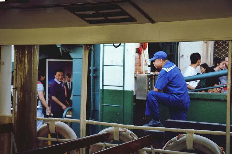 The Traveler - 2015 EyeEm Awards The Photojournalist - 2015 EyeEm Awards On The Shore Cruise Ship Snapshots Of Life The Human Condition People Watching People Photography On The Ship Hong Kong
