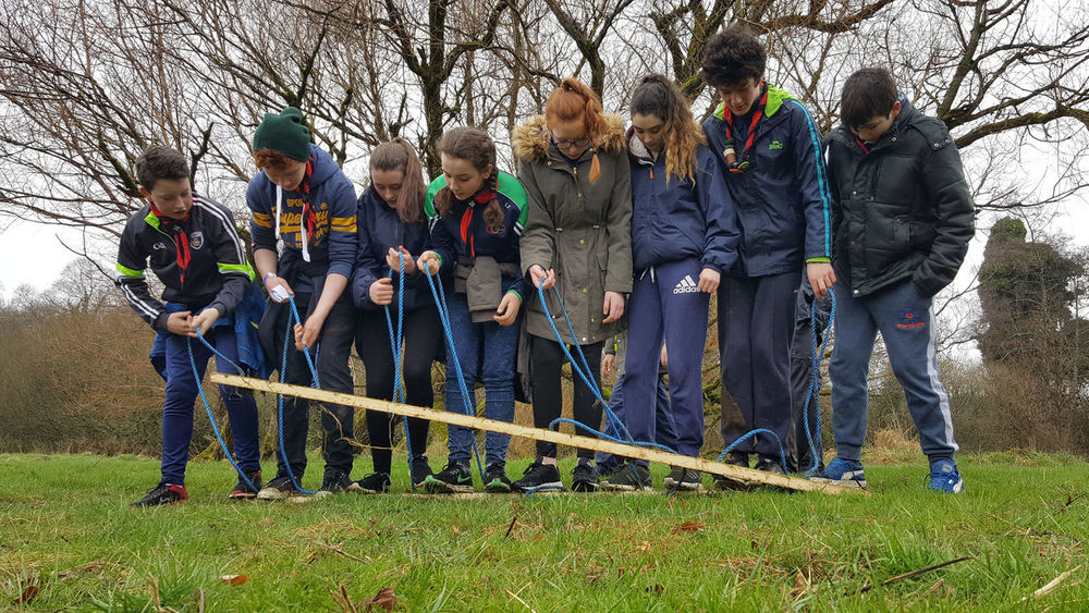 Boys And Girls Challenge Child Competition Friendship Full Length Outdoors People Problem Solving Scouts Togetherness