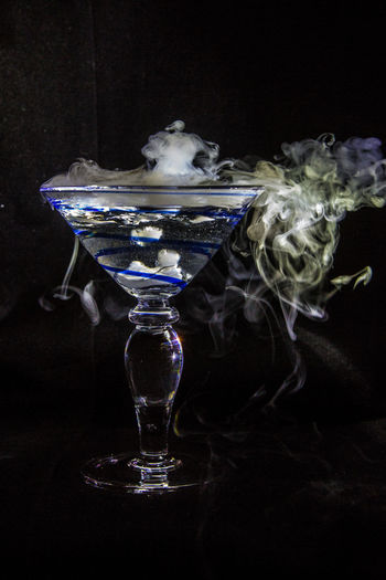 Bubbling Martini I Black Background Bubbling Cocktail Dramatic Lighting Dry Ice Cocktails Halloween Martini Martini Glass Studio Shot Witches Brew