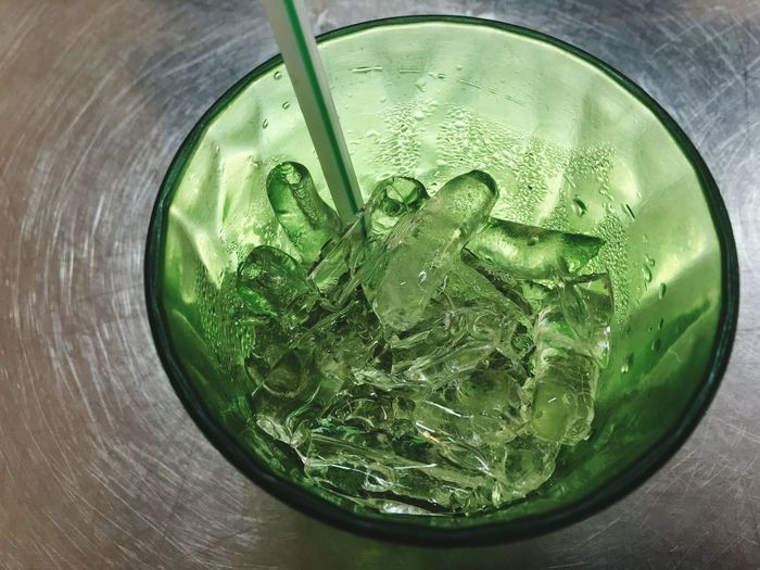 Green Color Food And Drink Refreshment Drink Freshness Still Life Close-up Drinking Glass Table Directly Above No People Mint Leaf - Culinary High Angle View Cold Temperature Indoors  Mojito Ice Cube Day