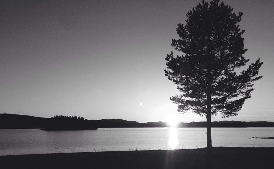 Hello World Sweden Sunset Blackandwhite