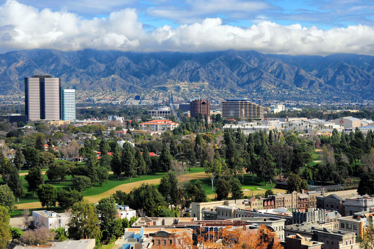 Universal City Clouds Mountains Landscape Travel USA Outdoors Cityscape California Hollywood Valley Los Angeles, California Mountain Range 840US_LOSANGELES_AK 840US_USA_AK