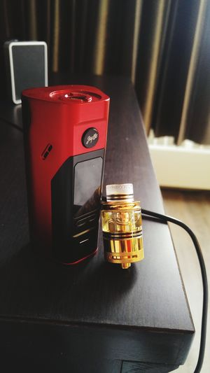 Technology Indoors  No People Day VapeLife Gold Lifestyle Vapeporn Wismecreuleaux Dotmod Close-up