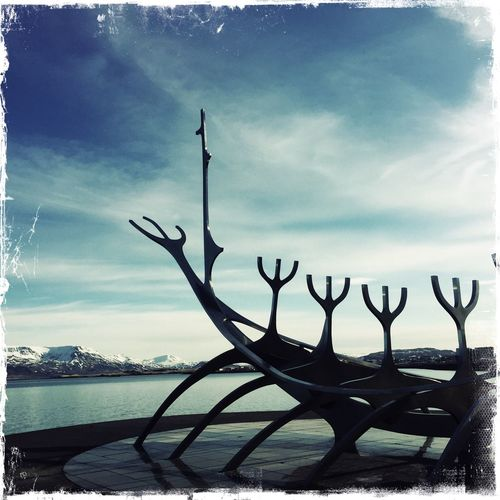 My Year My View Iceland Sky Sea Outdoors Tranquil Scene Sun Voyager Peaceful