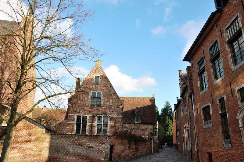 Architecture Beautiful Begijnhof Belgium. Belgique. Belgie. Belgien. Etc. Building Exterior Church Culture EyeEm Gallery Historic House Leuven Medieval Architecture Nuns Outdoors Sky Traveling